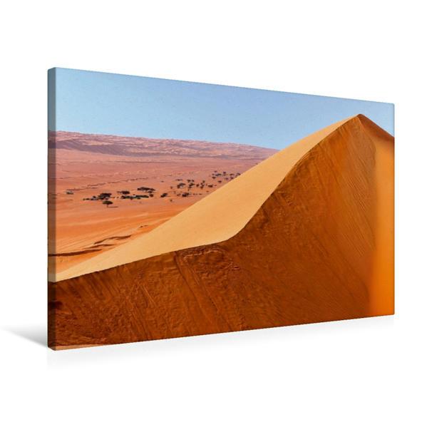Premium Textil-Leinwand 75 cm x 50 cm quer, Wüste Wahiba Sands, Sultanat Oman | Wandbild, Bild auf Keilrahmen, Fertigbild auf echter Leinwand, Leinwanddruck - Coverbild