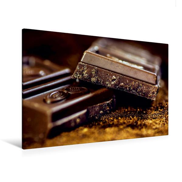 Premium Textil-Leinwand 120 cm x 80 cm quer, Schokolade | Wandbild, Bild auf Keilrahmen, Fertigbild auf echter Leinwand, Leinwanddruck - Coverbild