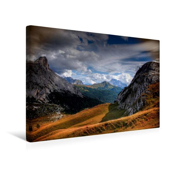Premium Textil-Leinwand 45 cm x 30 cm quer, Valparola Pass - Civetta - Belluno   Wandbild, Bild auf Keilrahmen, Fertigbild auf echter Leinwand, Leinwanddruck - Coverbild