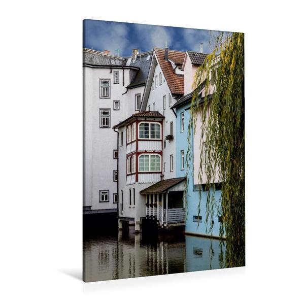 Premium Textil-Leinwand 80 cm x 120 cm  hoch, Esslingen am Neckar | Wandbild, Bild auf Keilrahmen, Fertigbild auf echter Leinwand, Leinwanddruck - Coverbild