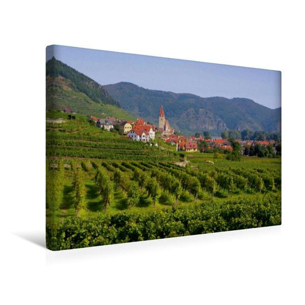 Premium Textil-Leinwand 45 cm x 30 cm quer, Weissenkirchen in der Wachau | Wandbild, Bild auf Keilrahmen, Fertigbild auf echter Leinwand, Leinwanddruck - Coverbild