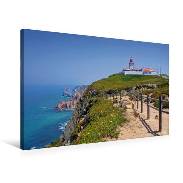 Premium Textil-Leinwand 75 cm x 50 cm quer, Cabo da Roca | Wandbild, Bild auf Keilrahmen, Fertigbild auf echter Leinwand, Leinwanddruck - Coverbild