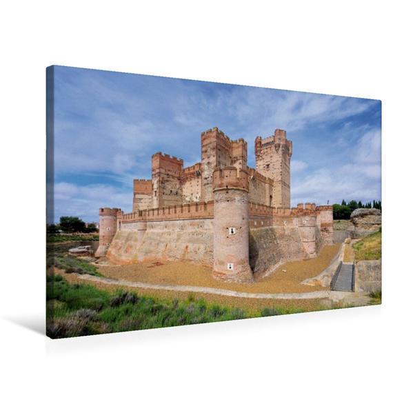 Premium Textil-Leinwand 75 cm x 50 cm quer, Castillo de la Mota | Wandbild, Bild auf Keilrahmen, Fertigbild auf echter Leinwand, Leinwanddruck - Coverbild