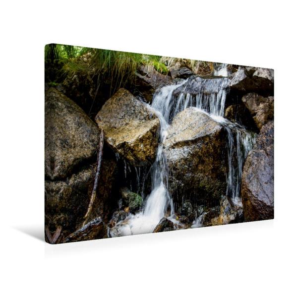 Premium Textil-Leinwand 45 cm x 30 cm quer, Minikaskade | Wandbild, Bild auf Keilrahmen, Fertigbild auf echter Leinwand, Leinwanddruck - Coverbild