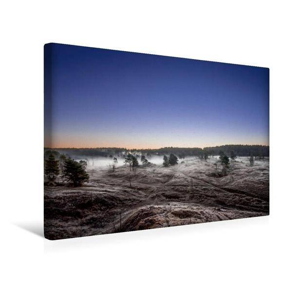 Premium Textil-Leinwand 45 cm x 30 cm quer, Dei Vennausläufer im Frost | Wandbild, Bild auf Keilrahmen, Fertigbild auf echter Leinwand, Leinwanddruck - Coverbild