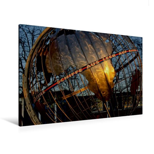 Premium Textil-Leinwand 120 cm x 80 cm quer, Schiffe aus Leer auf allen Meeren   Wandbild, Bild auf Keilrahmen, Fertigbild auf echter Leinwand, Leinwanddruck - Coverbild