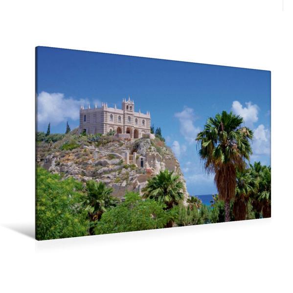 Premium Textil-Leinwand 120 cm x 80 cm quer, Tropea   Wandbild, Bild auf Keilrahmen, Fertigbild auf echter Leinwand, Leinwanddruck - Coverbild