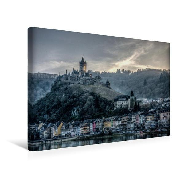Premium Textil-Leinwand 45 cm x 30 cm quer, Burg Choch,em | Wandbild, Bild auf Keilrahmen, Fertigbild auf echter Leinwand, Leinwanddruck - Coverbild