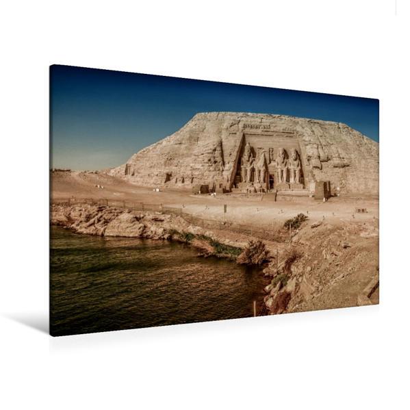 Premium Textil-Leinwand 120 cm x 80 cm quer, Abu Simbel | Wandbild, Bild auf Keilrahmen, Fertigbild auf echter Leinwand, Leinwanddruck - Coverbild
