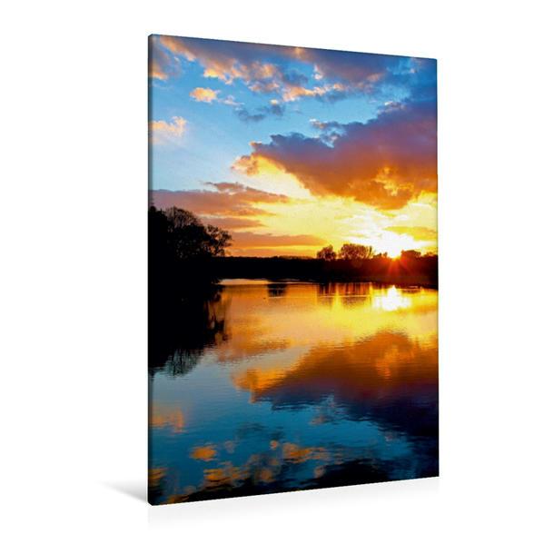 Premium Textil-Leinwand 80 cm x 120 cm  hoch, Ein Motiv aus dem Kalender Gespiegelte Natur | Wandbild, Bild auf Keilrahmen, Fertigbild auf echter Leinwand, Leinwanddruck - Coverbild