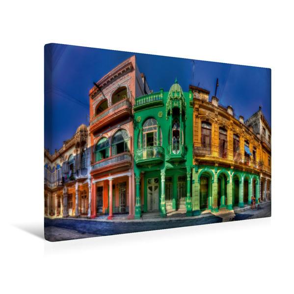 Premium Textil-Leinwand 45 cm x 30 cm quer, Kolonialer Traum in Havanna | Wandbild, Bild auf Keilrahmen, Fertigbild auf echter Leinwand, Leinwanddruck - Coverbild