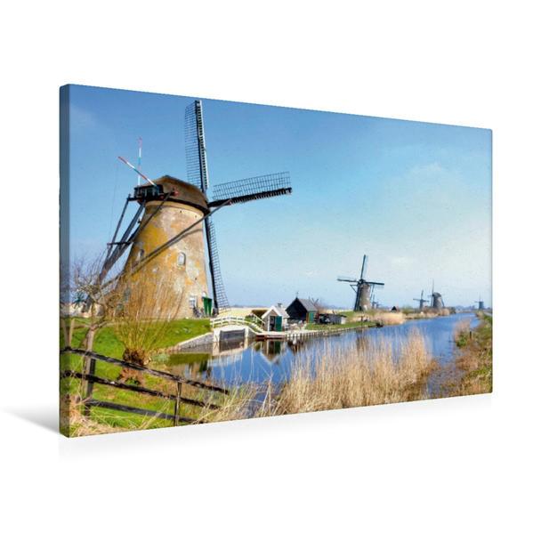 Premium Textil-Leinwand 75 cm x 50 cm quer, Ein Bild aus dem Kalender Niederlande | Wandbild, Bild auf Keilrahmen, Fertigbild auf echter Leinwand, Leinwanddruck - Coverbild