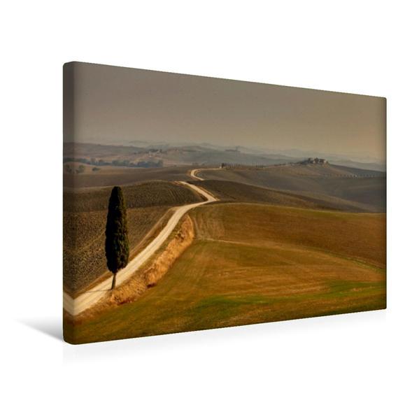 Premium Textil-Leinwand 45 cm x 30 cm quer, Winter in Val d'Orcia | Wandbild, Bild auf Keilrahmen, Fertigbild auf echter Leinwand, Leinwanddruck - Coverbild