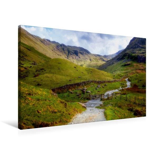 Premium Textil-Leinwand 90 cm x 60 cm quer, Seathwaite | Wandbild, Bild auf Keilrahmen, Fertigbild auf echter Leinwand, Leinwanddruck - Coverbild