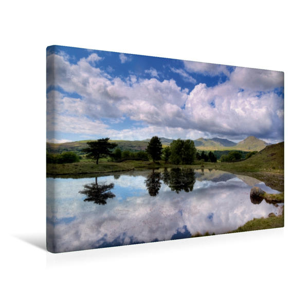 Premium Textil-Leinwand 45 cm x 30 cm quer, Kelly Hall Tarn | Wandbild, Bild auf Keilrahmen, Fertigbild auf echter Leinwand, Leinwanddruck - Coverbild