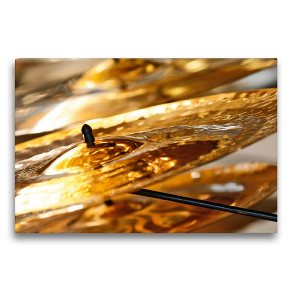 Premium Textil-Leinwand 75 cm x 50 cm quer, Schlagbecken | Wandbild, Bild auf Keilrahmen, Fertigbild auf echter Leinwand, Leinwanddruck - Coverbild