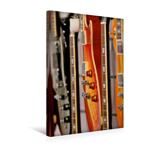 Premium Textil-Leinwand 30 cm x 45 cm hoch, E-Gitarre | Wandbild, Bild auf Keilrahmen, Fertigbild auf echter Leinwand, Leinwanddruck - Coverbild
