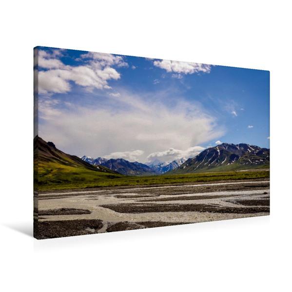 Premium Textil-Leinwand 90 cm x 60 cm quer, Ein Motiv aus dem Kalender Traumhaftes Alaska | Wandbild, Bild auf Keilrahmen, Fertigbild auf echter Leinwand, Leinwanddruck - Coverbild