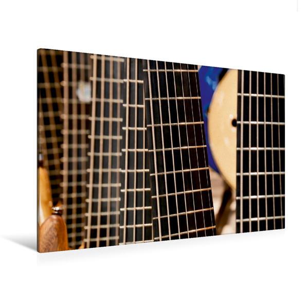 Premium Textil-Leinwand 120 cm x 80 cm quer, Gitarre | Wandbild, Bild auf Keilrahmen, Fertigbild auf echter Leinwand, Leinwanddruck - Coverbild