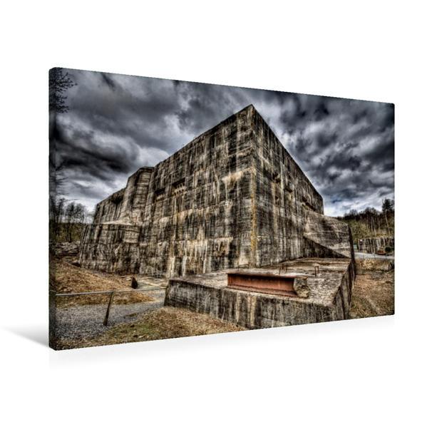 Premium Textil-Leinwand 90 cm x 60 cm quer, Blockhaus von Éperlecques, Frankreich   Wandbild, Bild auf Keilrahmen, Fertigbild auf echter Leinwand, Leinwanddruck - Coverbild