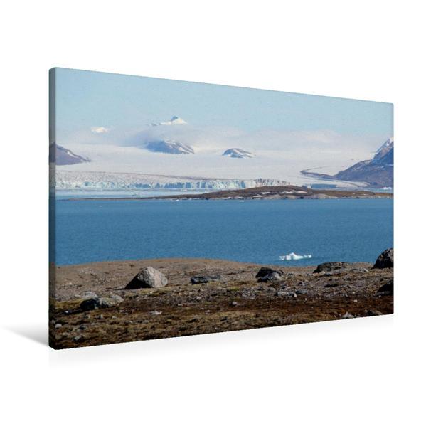 Premium Textil-Leinwand 90 cm x 60 cm quer, Wundervolle Arktis | Wandbild, Bild auf Keilrahmen, Fertigbild auf echter Leinwand, Leinwanddruck - Coverbild
