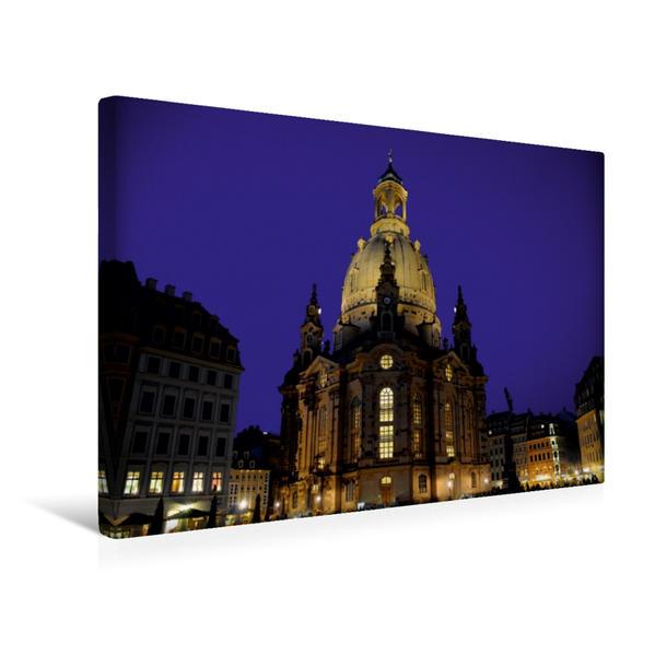 Premium Textil-Leinwand 45 cm x 30 cm quer, Ein Motiv aus dem Kalender Dresden 2017 | Wandbild, Bild auf Keilrahmen, Fertigbild auf echter Leinwand, Leinwanddruck - Coverbild