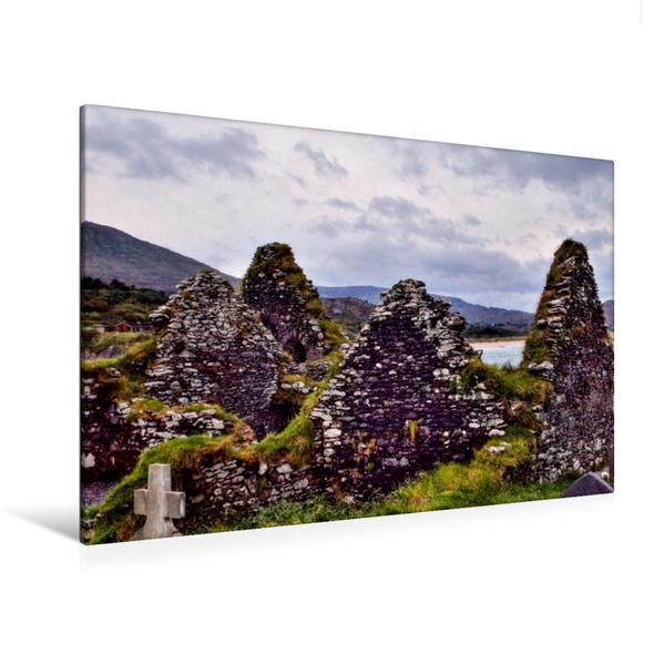 Premium Textil-Leinwand 120 cm x 80 cm quer, Ahamore Abbey, Derrynane, Irland | Wandbild, Bild auf Keilrahmen, Fertigbild auf echter Leinwand, Leinwanddruck - Coverbild