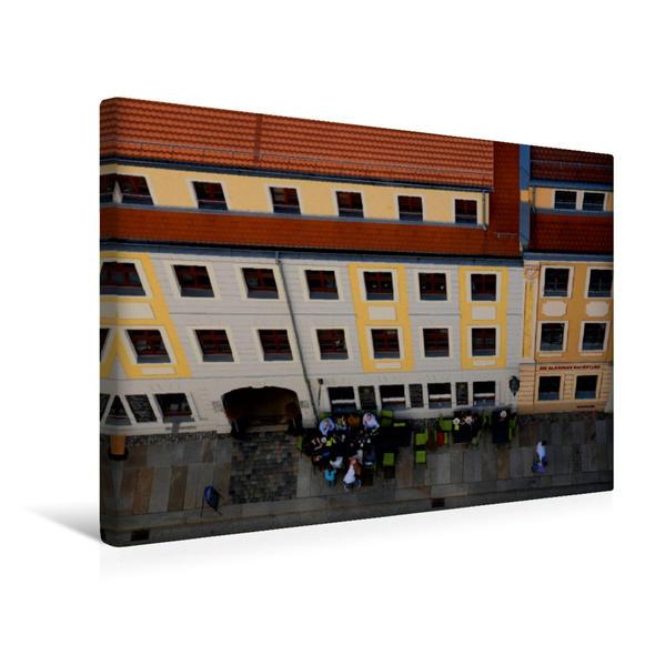Premium Textil-Leinwand 45 cm x 30 cm quer, Blick von der Drei Königskirche auf die Königsstrasse | Wandbild, Bild auf Keilrahmen, Fertigbild auf echter Leinwand, Leinwanddruck - Coverbild