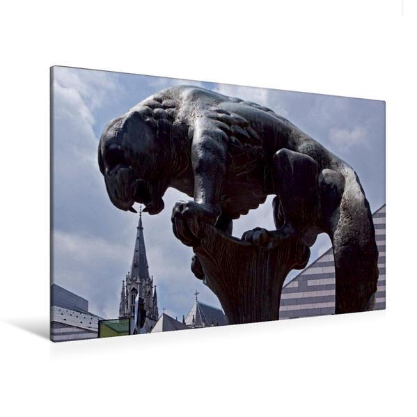 Premium Textil-Leinwand 120 cm x 80 cm quer, Baklauv-Brunnen | Wandbild, Bild auf Keilrahmen, Fertigbild auf echter Leinwand, Leinwanddruck - Coverbild