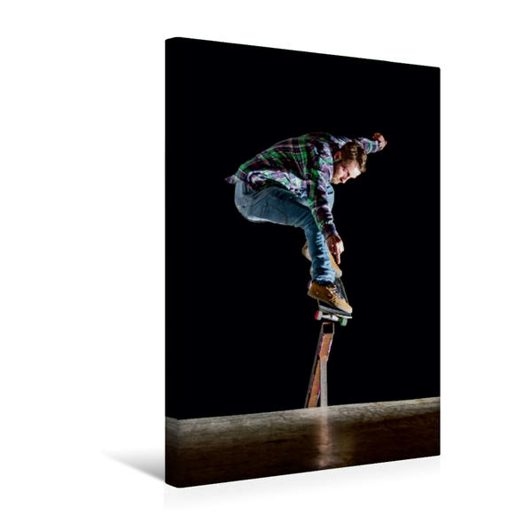Premium Textil-Leinwand 30 cm x 45 cm hoch, Skaten ist können | Wandbild, Bild auf Keilrahmen, Fertigbild auf echter Leinwand, Leinwanddruck - Coverbild
