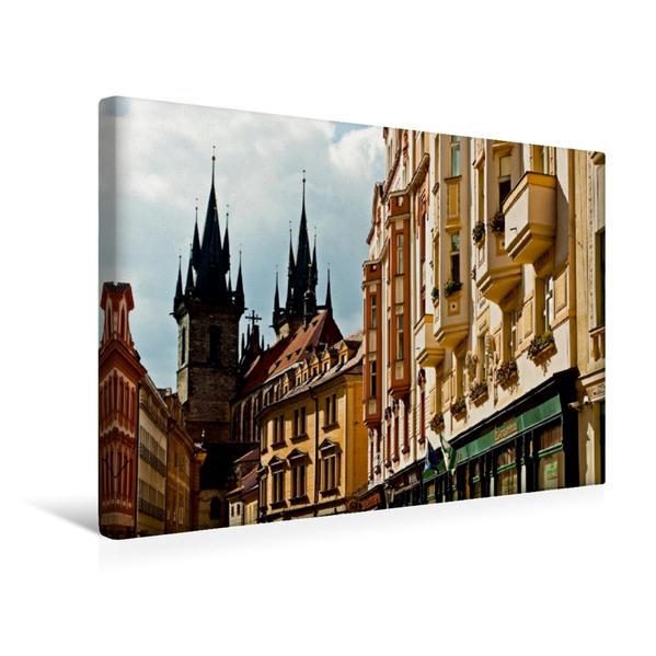 Premium Textil-Leinwand 45 cm x 30 cm quer, Teynkirche   Wandbild, Bild auf Keilrahmen, Fertigbild auf echter Leinwand, Leinwanddruck - Coverbild