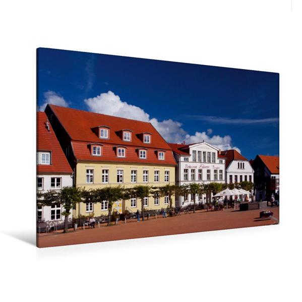 Premium Textil-Leinwand 120 cm x 80 cm quer, Markt | Wandbild, Bild auf Keilrahmen, Fertigbild auf echter Leinwand, Leinwanddruck - Coverbild