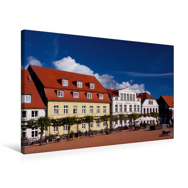Premium Textil-Leinwand 75 cm x 50 cm quer, Markt | Wandbild, Bild auf Keilrahmen, Fertigbild auf echter Leinwand, Leinwanddruck - Coverbild