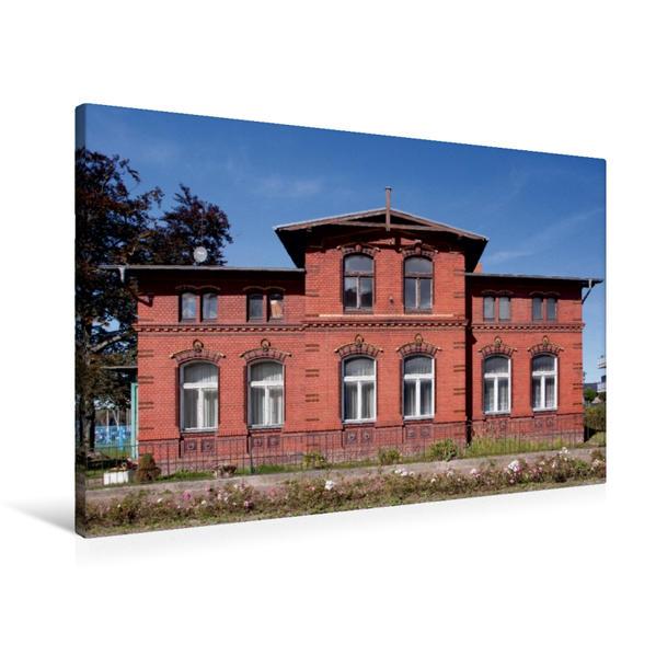 Premium Textil-Leinwand 90 cm x 60 cm quer, Teetzsche Villa | Wandbild, Bild auf Keilrahmen, Fertigbild auf echter Leinwand, Leinwanddruck - Coverbild
