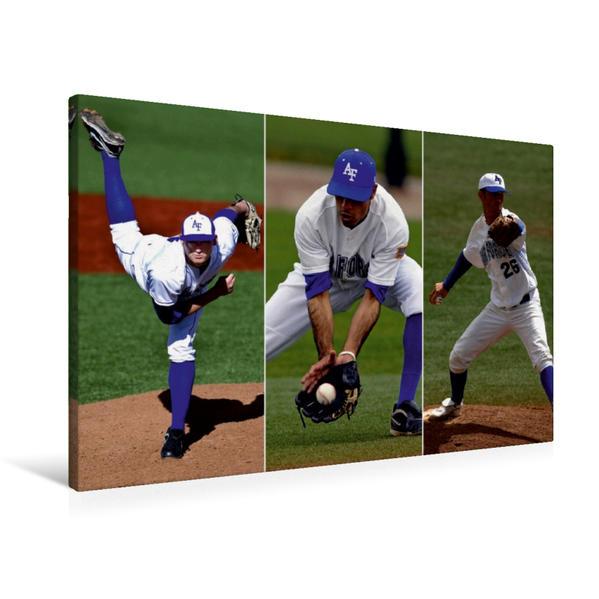 Premium Textil-Leinwand 90 cm x 60 cm quer, Home Run - Kultsport Baseball | Wandbild, Bild auf Keilrahmen, Fertigbild auf echter Leinwand, Leinwanddruck - Coverbild