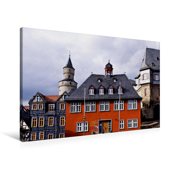 Premium Textil-Leinwand 90 cm x 60 cm quer, Idstein | Wandbild, Bild auf Keilrahmen, Fertigbild auf echter Leinwand, Leinwanddruck - Coverbild
