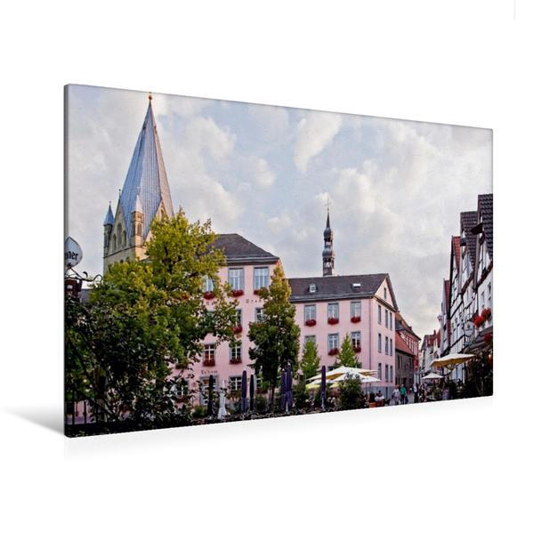 Premium Textil-Leinwand 120 cm x 80 cm quer, Rathaus | Wandbild, Bild auf Keilrahmen, Fertigbild auf echter Leinwand, Leinwanddruck - Coverbild