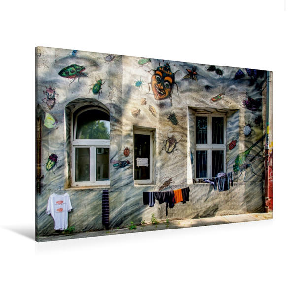 Premium Textil-Leinwand 120 cm x 80 cm quer, Wäscheleine   Wandbild, Bild auf Keilrahmen, Fertigbild auf echter Leinwand, Leinwanddruck - Coverbild