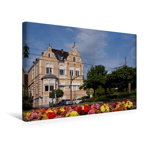 Premium Textil-Leinwand 45 cm x 30 cm quer, Rheinstrasse | Wandbild, Bild auf Keilrahmen, Fertigbild auf echter Leinwand, Leinwanddruck - Coverbild