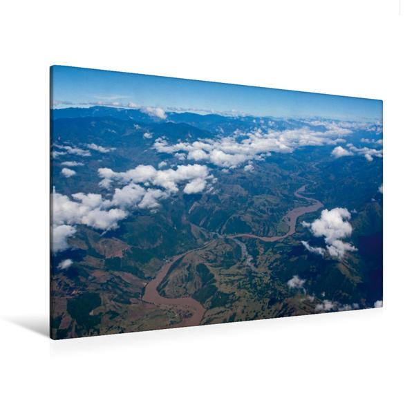 Premium Textil-Leinwand 120 cm x 80 cm quer, Kolumbien | Wandbild, Bild auf Keilrahmen, Fertigbild auf echter Leinwand, Leinwanddruck - Coverbild
