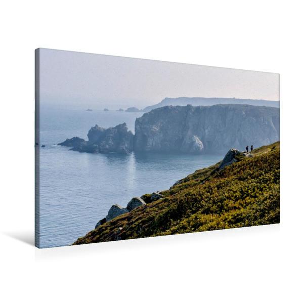Premium Textil-Leinwand 90 cm x 60 cm quer, Pointe du Van | Wandbild, Bild auf Keilrahmen, Fertigbild auf echter Leinwand, Leinwanddruck - Coverbild