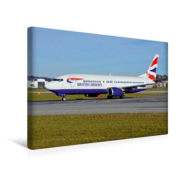 Premium Textil-Leinwand 45 cm x 30 cm quer, British Airways | Wandbild, Bild auf Keilrahmen, Fertigbild auf echter Leinwand, Leinwanddruck - Coverbild