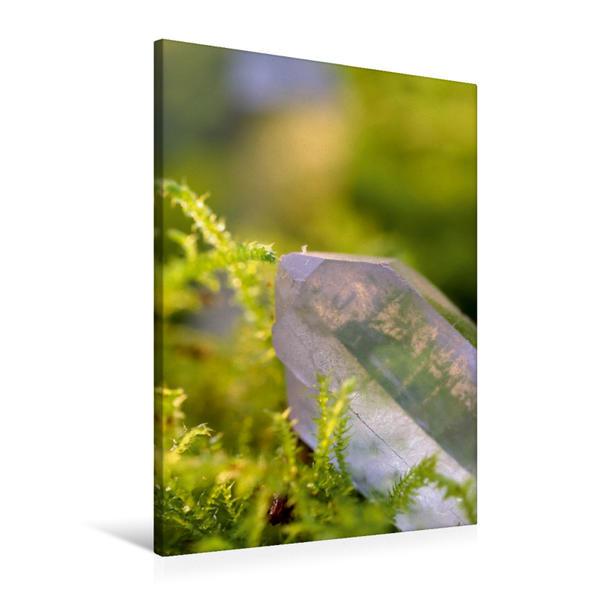Premium Textil-Leinwand 60 cm x 90 cm hoch, Bergkristall   Wandbild, Bild auf Keilrahmen, Fertigbild auf echter Leinwand, Leinwanddruck - Coverbild
