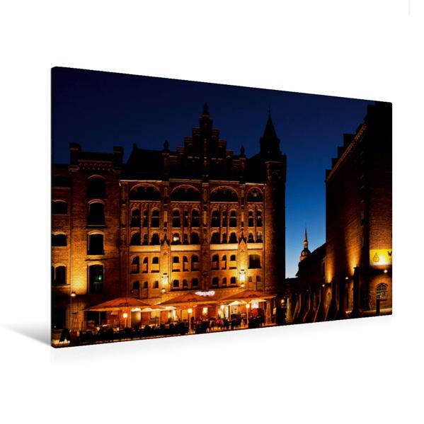 Premium Textil-Leinwand 120 cm x 80 cm quer, Hafenkai   Wandbild, Bild auf Keilrahmen, Fertigbild auf echter Leinwand, Leinwanddruck - Coverbild