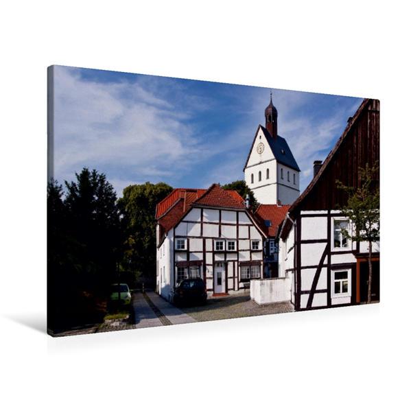 Premium Textil-Leinwand 90 cm x 60 cm quer, Vielser Strasse | Wandbild, Bild auf Keilrahmen, Fertigbild auf echter Leinwand, Leinwanddruck - Coverbild