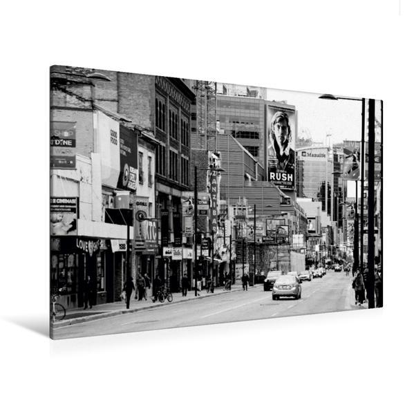 Premium Textil-Leinwand 120 cm x 80 cm quer, Yonge Street | Wandbild, Bild auf Keilrahmen, Fertigbild auf echter Leinwand, Leinwanddruck - Coverbild