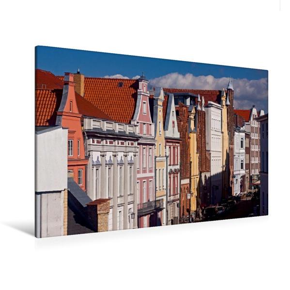 Premium Textil-Leinwand 120 cm x 80 cm quer, Mühlenstraße | Wandbild, Bild auf Keilrahmen, Fertigbild auf echter Leinwand, Leinwanddruck - Coverbild