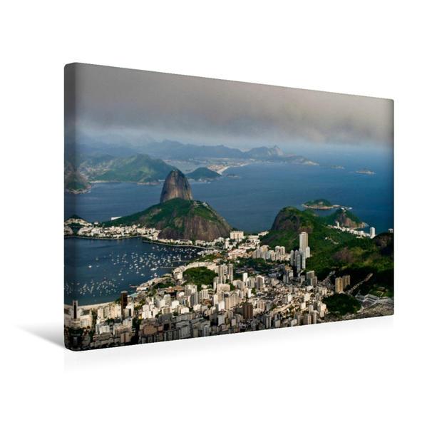 Premium Textil-Leinwand 45 cm x 30 cm quer, Rio de Janeiro, Brasilien   Wandbild, Bild auf Keilrahmen, Fertigbild auf echter Leinwand, Leinwanddruck - Coverbild
