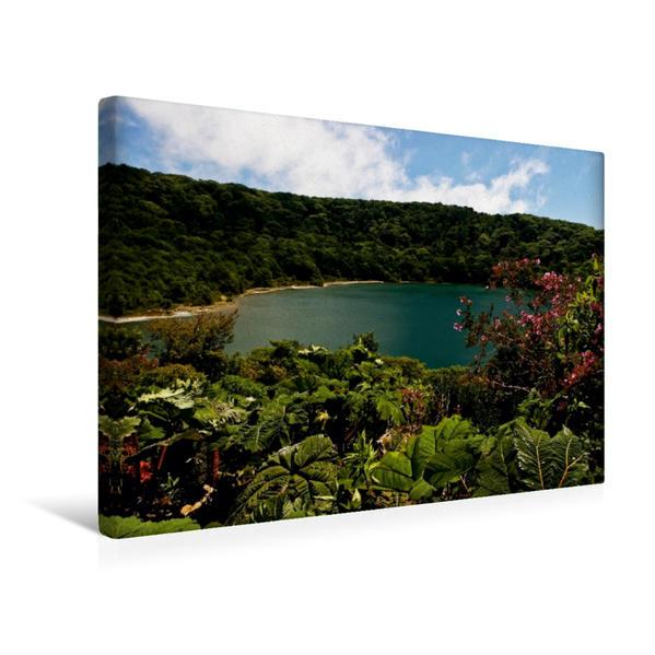 Premium Textil-Leinwand 45 cm x 30 cm quer, Laguna Botos | Wandbild, Bild auf Keilrahmen, Fertigbild auf echter Leinwand, Leinwanddruck - Coverbild