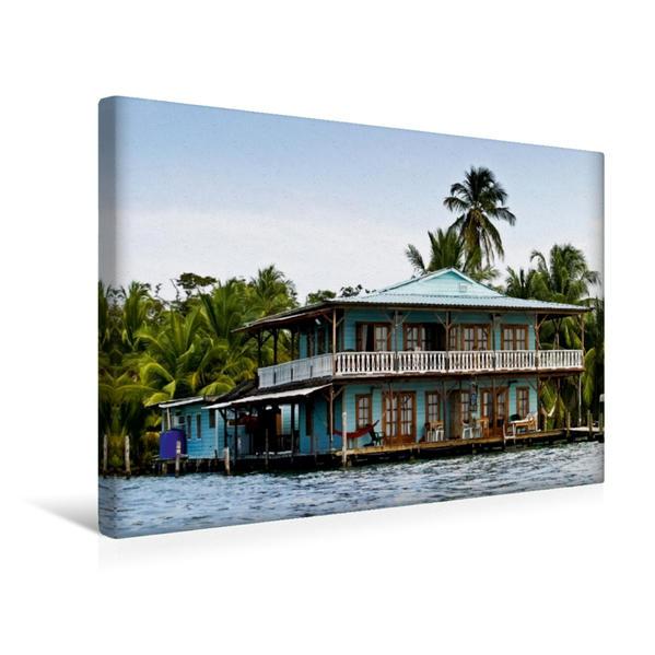 Premium Textil-Leinwand 45 cm x 30 cm quer, Bocas del Toros | Wandbild, Bild auf Keilrahmen, Fertigbild auf echter Leinwand, Leinwanddruck - Coverbild
